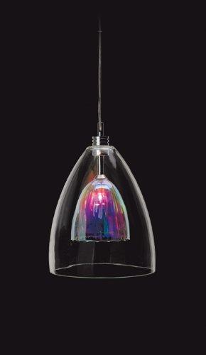 Firstlight Prism Hängelampe kapselförmig 1 x 12V/ 50 Watt gebürsteter Stahl mit Glas