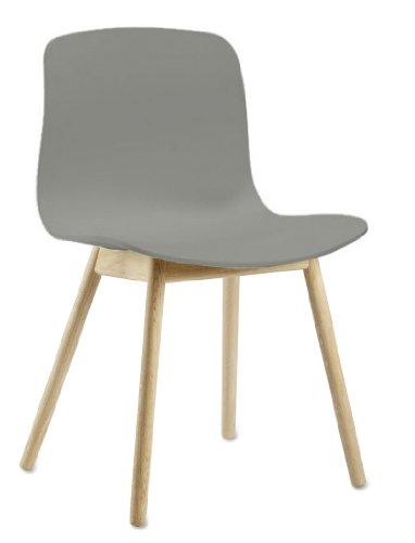 HAY - About a Chair AAC 12 - grau - klar lackiert - Hee Welling and Hay - Speisezimmerstuhl - Design - Esszimmerstuhl