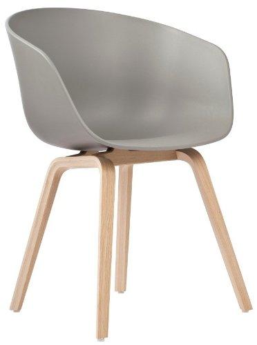 Hay About A Chair 22 Armlehnstuhl Colour Grau Gestell Eiche Geseift Mit Kunststoffgleitern