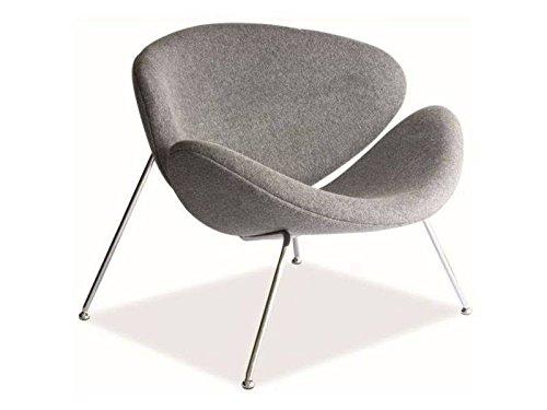 MAJOR Retro Sessel Loft Industrial Design 6 Farben Chromgestell (Grau)