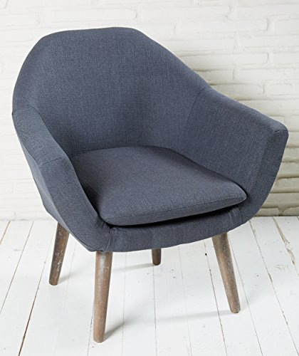 polsterstuhl grau mit holzbeinen esszimmerstuhl. Black Bedroom Furniture Sets. Home Design Ideas