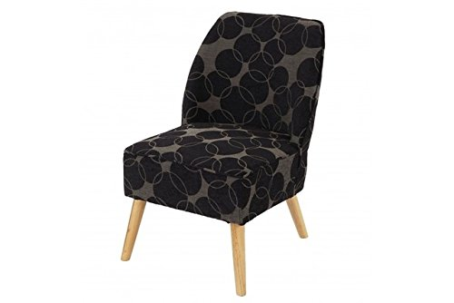 Retro club sessel schwarz grau polstersessel loungesesel for Design club sessel