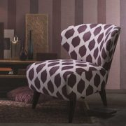 Sessel in Retro Design Lila gemustert Pharao24