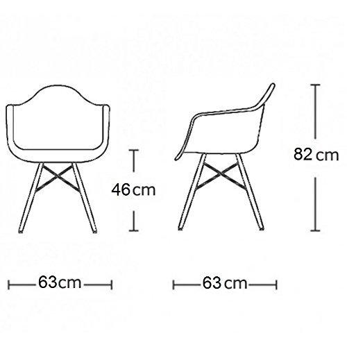 VERKAUF! 2 x Design-Stuhl Eiffel Stil Schwarz Holz Beine und Sitz Farbe B&W Patchwork Mobistyl® DAWB-PN-2