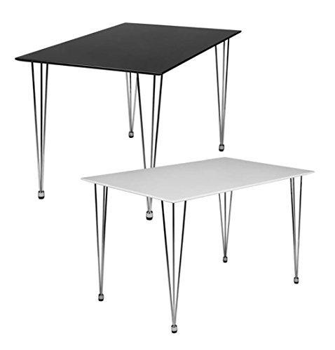 design esstisch oslo 120 x 80 x 76 cm form rechteckig skandinavischer retro look matt. Black Bedroom Furniture Sets. Home Design Ideas