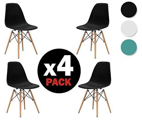 due home nordik 4 st hle tower schwarz stuhl aus. Black Bedroom Furniture Sets. Home Design Ideas
