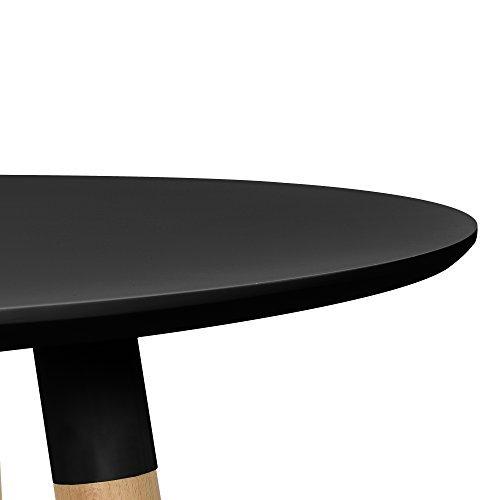 Küchentisch Rund Holz ~ [en casa] esstisch rund schwarz [h 75cmx u00d880cm] holz tisch retro küchentisch retro stuhl