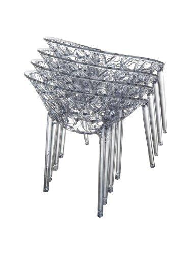 clp design gartenstuhl bistrostuhl stapelstuhl crystal belastbar bis 160 kg stapelbar. Black Bedroom Furniture Sets. Home Design Ideas