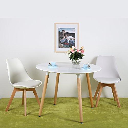 4er set esszimmerst hle mit massivholz buche bein retro design gepolsterter lstuhl k chenstuhl. Black Bedroom Furniture Sets. Home Design Ideas
