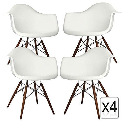 Verkauf 4 x design stuhl eiffel stil walnussholz beine for Stuhl 4 beine