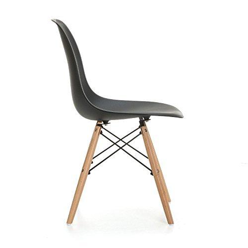 Retro stuhl due home nordik 4 st hle tower schwarz for Eames nachbildung