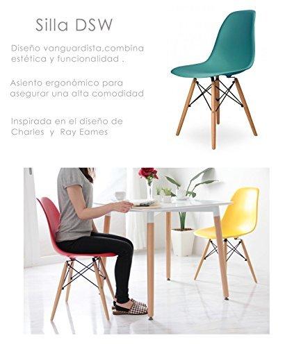 due home nordik pack 4 st hle stuhl tower t rkis. Black Bedroom Furniture Sets. Home Design Ideas