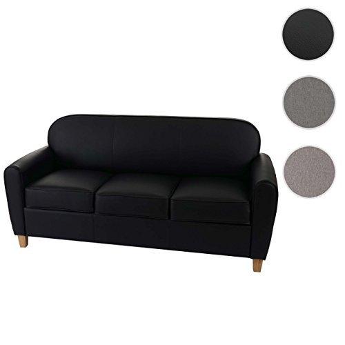 3er sofa malm t377 loungesofa couch retro 50er jahre design schwarz kunstleder retro stuhl. Black Bedroom Furniture Sets. Home Design Ideas