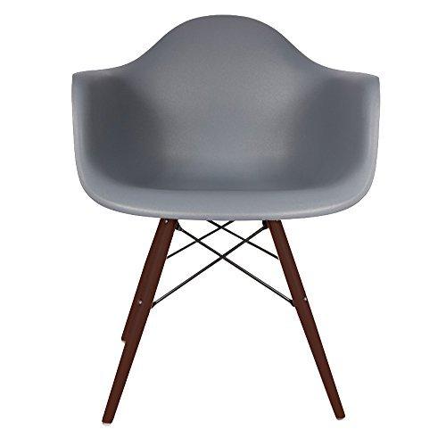 verkauf 4 x design stuhl eiffel stil walnussholz beine