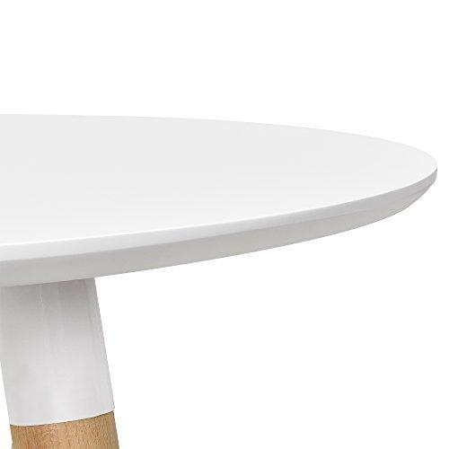 esstisch rund wei h 75cmx 80cm holz tisch retro k chentisch retro stuhl. Black Bedroom Furniture Sets. Home Design Ideas