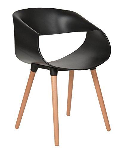 ts ideen 1x design stuhl wohnzimmer esstisch k chen esszimmer sitz schwarz holz buche retro stuhl. Black Bedroom Furniture Sets. Home Design Ideas