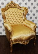 Barock Sessel King Gold Muster / Gold - Möbel Antik Stil