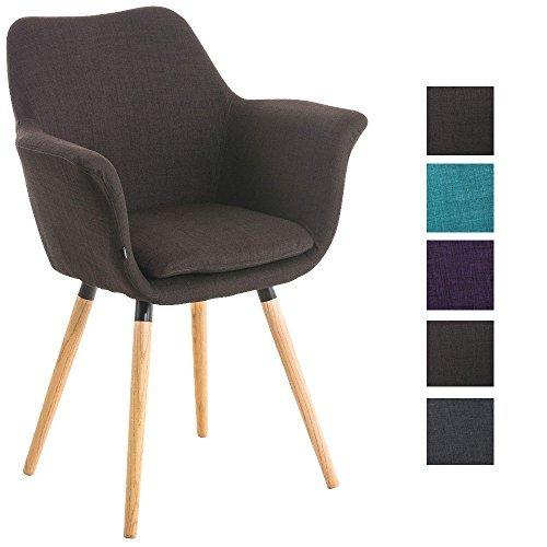 Clp besucher stuhl vance holzgestell stoff bezug for Polsterstuhl mit armlehne
