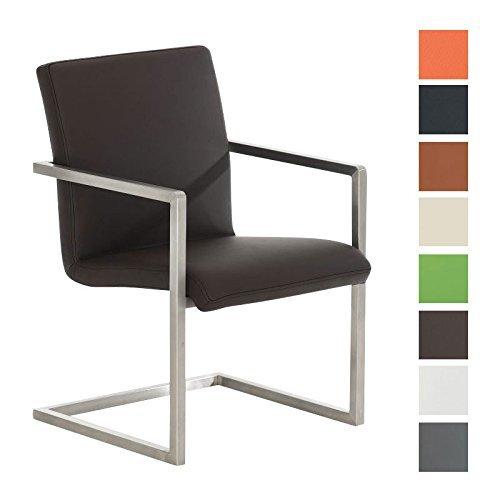 Clp design edelstahl freischwinger stuhl java besucher for Design stuhle mit armlehne