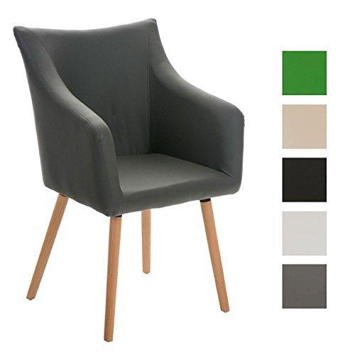 Clp design esszimmer stuhl mccoy holz gestell sitzfl che for Design stuhl leder holz