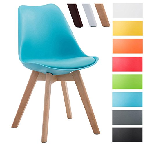 clp design retro stuhl borneo v2 holz gestell materialmix aus kunststoff kunstleder retro stuhl. Black Bedroom Furniture Sets. Home Design Ideas