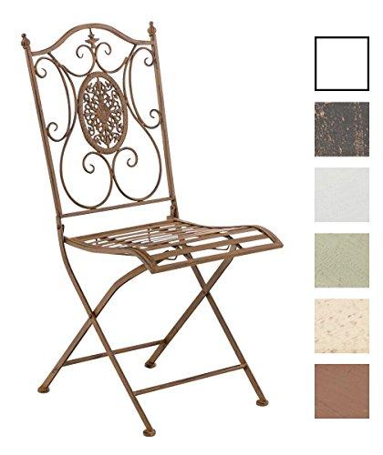 clp eisen garten stuhl sibell metall stuhl klappbar dehsign nostalgisch antik retro stuhl. Black Bedroom Furniture Sets. Home Design Ideas