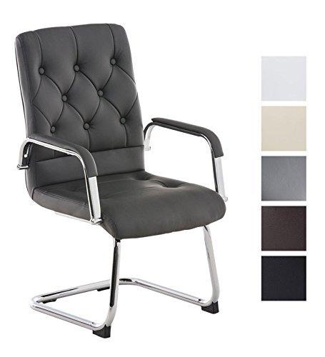 clp freischwinger stuhl mit armlehne claire besucherstuhl konferenzstuhl mit gepolsterter. Black Bedroom Furniture Sets. Home Design Ideas