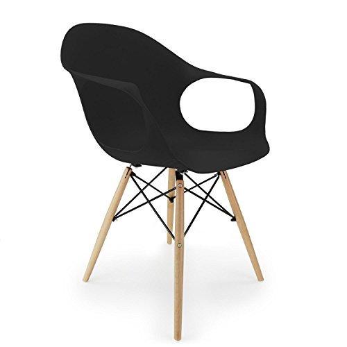 Großartig Cablematic   Stuhl Eiffelturm Inspiriert Sessel In Schwarz .