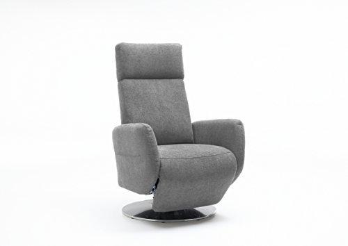 Cavadore 5900984022096 TV-Sessel, Schaumstoff, hellgrau, 71 x 82 x 110 cm