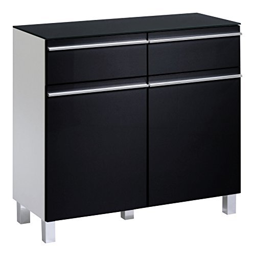 retro stuhl cavadore 86082 sideboard sleek 10 moderne kommode aus holz mit hochglanz front in. Black Bedroom Furniture Sets. Home Design Ideas