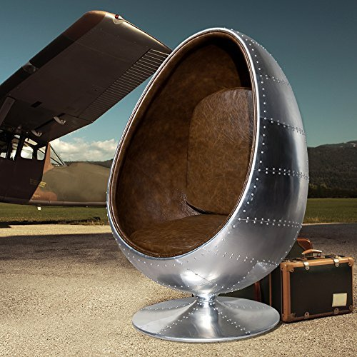 design lounge sessel sitzei space egg alu silber vintage. Black Bedroom Furniture Sets. Home Design Ideas