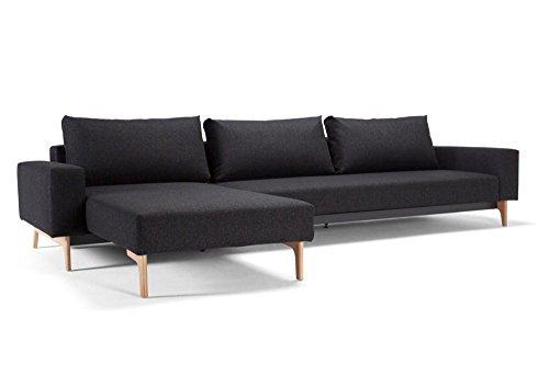 design sofa schlafsofa idun lounger twist black convertible bett 200 140 cm retro stuhl. Black Bedroom Furniture Sets. Home Design Ideas