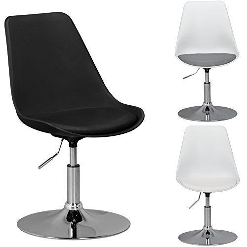 finebuy hainan drehsessel esszimmerstuhl kunstleder sitzfl che schwarz drehstuhl ist. Black Bedroom Furniture Sets. Home Design Ideas