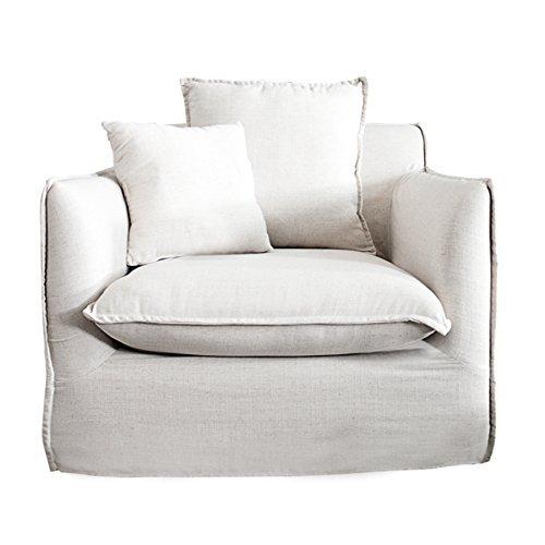 gro er hussensessel heaven leinenstoff in weiss polstersessel sessel retro stuhl. Black Bedroom Furniture Sets. Home Design Ideas