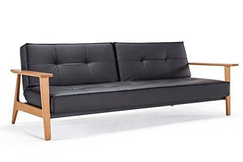 Prime Innovation Living Sofa Bett Design Splitback Frej Schwarz Convertible 115 200 Cm Armlehnen Holz Interior Design Ideas Greaswefileorg