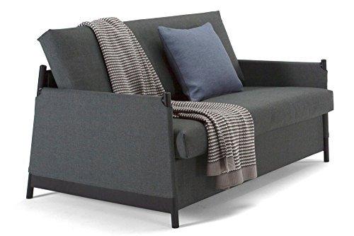 innovation living sofa design neat grau convertible bett 135 200 cm retro stuhl. Black Bedroom Furniture Sets. Home Design Ideas