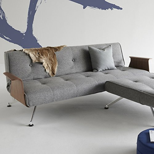 innovation schlafsofa mit chrombeinen und armlehnen clubber retro stuhl. Black Bedroom Furniture Sets. Home Design Ideas