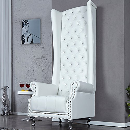 invicta interior 18533 sessel royal chair weiss retro stuhl. Black Bedroom Furniture Sets. Home Design Ideas