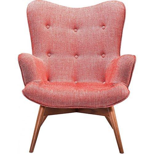 kare design sessel textil rot mit armlehnen retro angels wings rhythm karmin retro stuhl. Black Bedroom Furniture Sets. Home Design Ideas