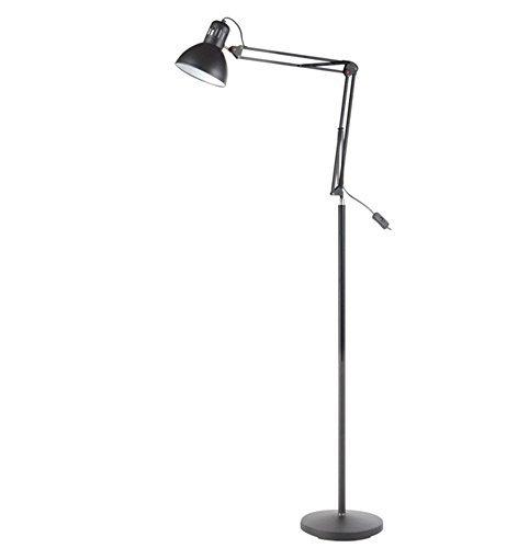 KesiErte E27 Stehleuchte LED Eisen Augenschutz Europäische Lange Arm Stehleuchte Moderne Einfache Gentry Schrumpfen Frühling Fixed Button , a