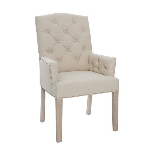 Leinenstuhl castle beige mit chesterfield steppung - Stuhl chesterfield ...