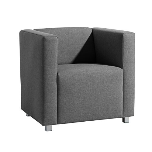 Max Winzer 25392-1100-1645214 kubischer-/Lounge Sessel Corrado, Leinenoptik, anthrazit