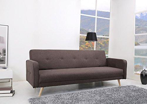 oslo schlafcouch stoff fuscous braun grau schlaffunktion sofa retro stuhl. Black Bedroom Furniture Sets. Home Design Ideas