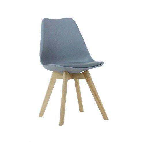 Stühle weiß grau  P & N Homewares® Lorenzo Tulip Stuhl Kunststoff Retro Stühle weiß ...