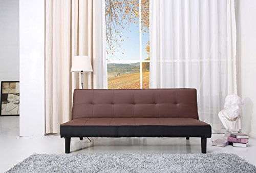 paulo schlafcouch kunstleder braun schlaffunktion sofa. Black Bedroom Furniture Sets. Home Design Ideas