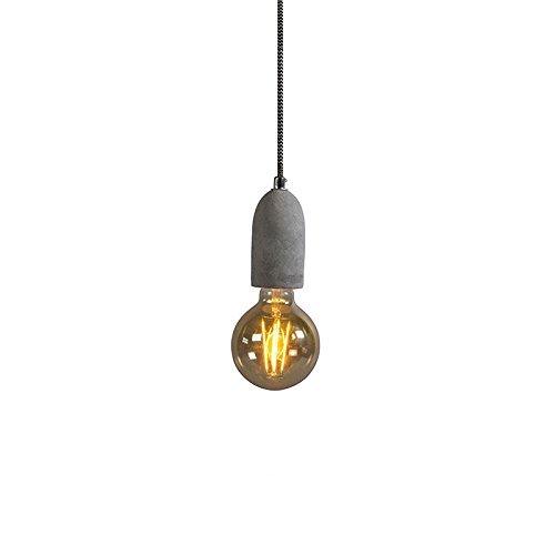 QAZQA Design / Modern / Puristische Pendelleuchte / Pendellampe / Hängelampe / Lampe / Leuchte Cava 1 beton Stein / Rund / Länglich / LED geeignet E27 Max. 1 x 60 Watt