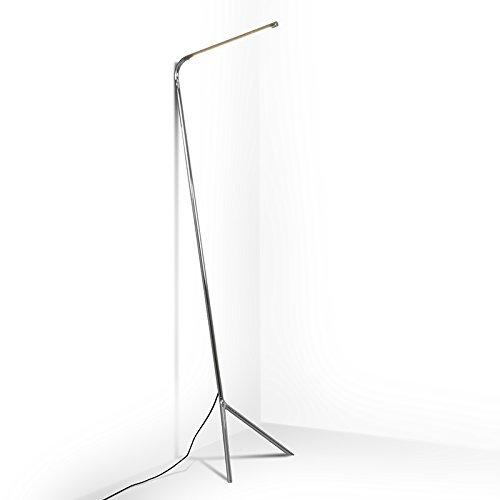 QAZQA Design / Modern / Stehleuchte / Stehlampe / Standleuchte / Lampe / Leuchte Lazy Lamp chrom Metall Länglich inklusive LED (nicht austauschbare) LED Max. 1 x 12 Watt Dimmer / Dimmbar