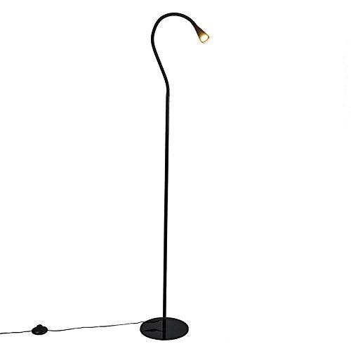 qazqa design modern stehleuchte stehlampe standleuchte lampe leuchte swan schwarz. Black Bedroom Furniture Sets. Home Design Ideas