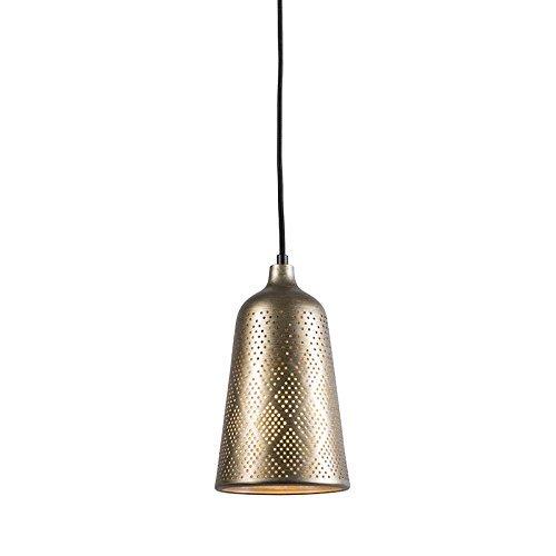 QAZQA Landhaus / Vintage / Rustikal Pendelleuchte / Pendellampe / Hängelampe / Lampe / Leuchte Africa 3 Gold / Messing Metall Rund LED geeignet E27 Max. 1 x 60 Watt