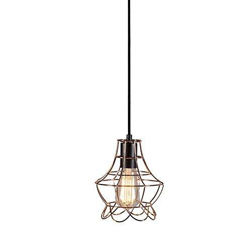 QAZQA Landhaus / Vintage / Rustikal Pendelleuchte / Pendellampe / Hängelampe / Lampe / Leuchte Licor Luxe 2 kupfer Metall Rund LED geeignet E27 Max. 1 x 40 Watt